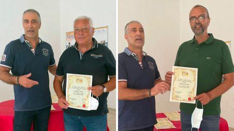 """Centenario della F.I.P. (1921-2021): Giuseppe Carestia e Roberto Favacchio della USD """"F. Ciavorella"""" premiati dal Comitato Regionale F.I.P."""
